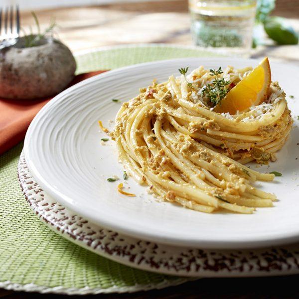 Lidl spaghetti con arancio