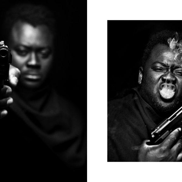 gun, pistola, uomo di colore