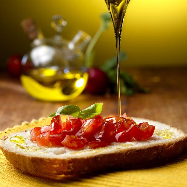 bruschetta olio e pomodoro