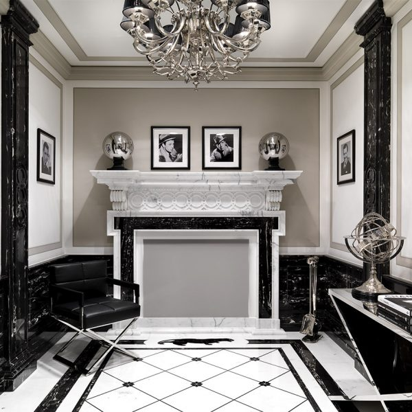 sala nera, marmo