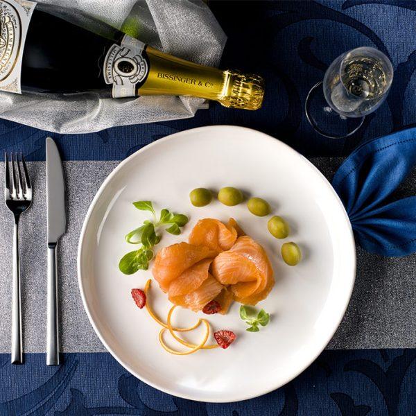 salmone con olive